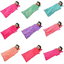 ZHUOTOP Cute Doll Sleeping Bag Pillow Eyeshade Set for 18 Inch America Doll Gift