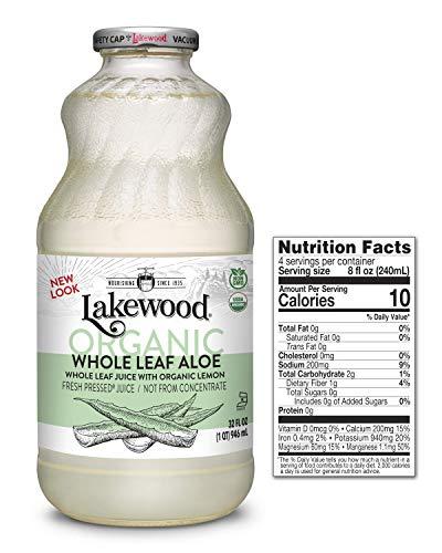 (Lakewood Organic  Pure Whole Leaf Aloe, 32 Ounce (Pack of 6))