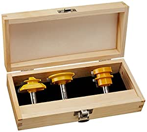 Yonico 15336 Jointing Router Bit Set, 3-Piece