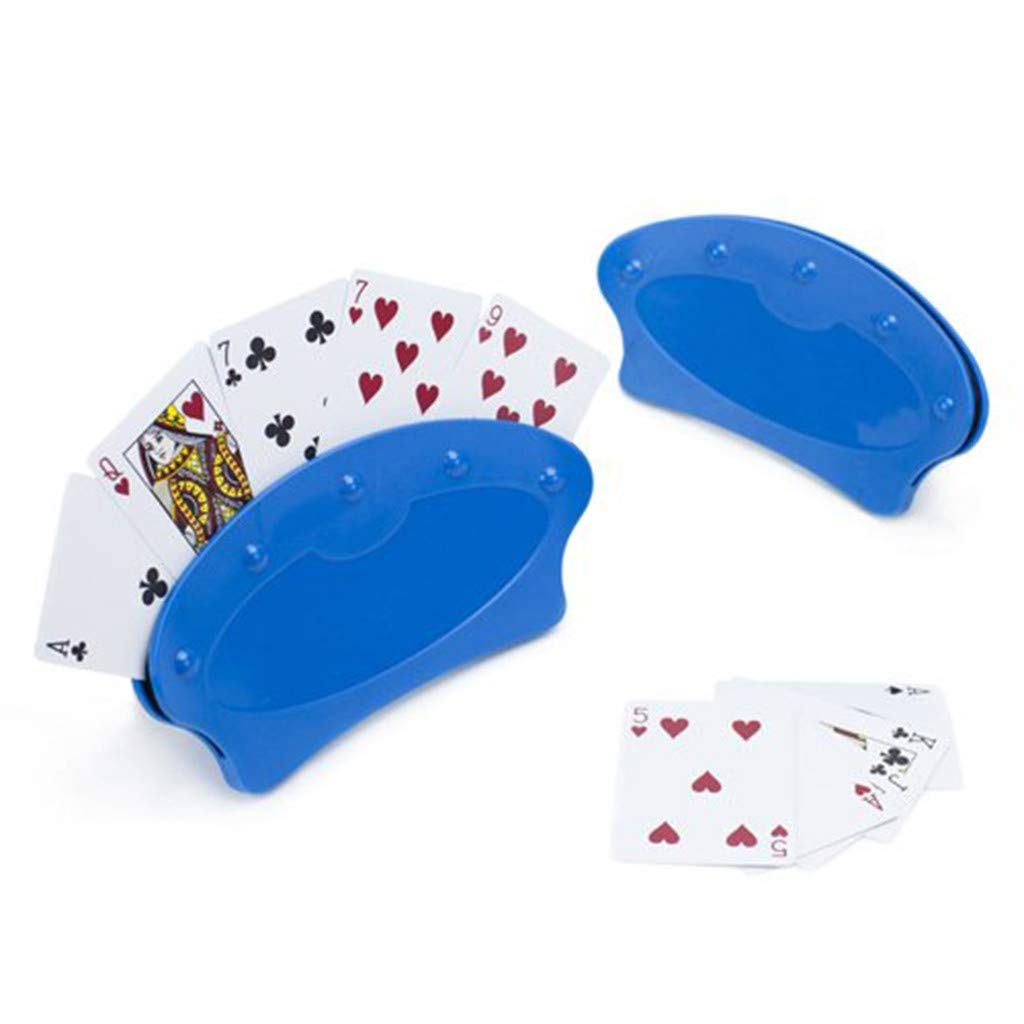 4/2pcs Poker Rack Hands Free Playing Standing Card Holders Fun Rack for Kids, Seniors, Adults, Disabled, Elderly ( B)
