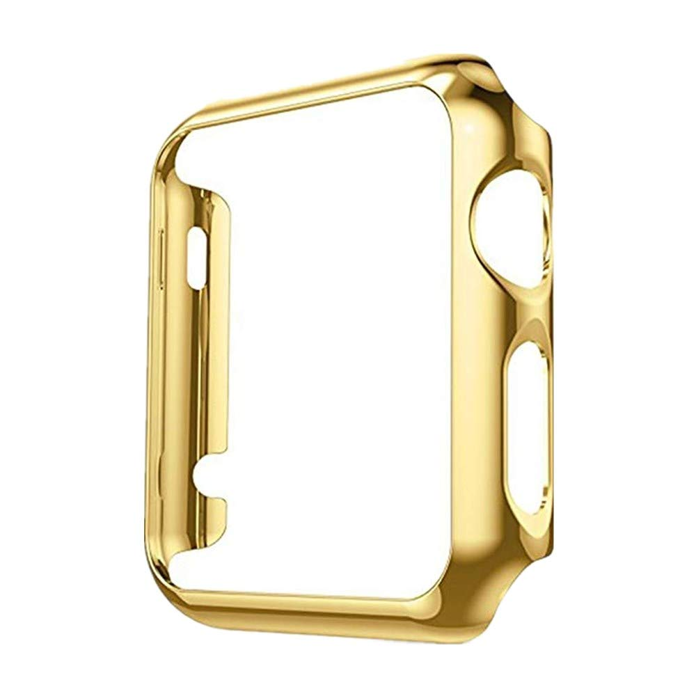 Apple Watch Case PC Structure Design Protector All-Around Protective Case Ultra-Thin Cover for Apple Watch Series 1, Series 2, Series 3 :vl (Gold :vl, 38 mm) by 54lany