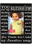 Green Tree Gallery You are My Sunshine Photo Frame, Black and Cream, for a 5 x 7 inch Photo