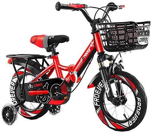 YSA キッズバイクキッズアウトドア自転車、12、14インチ、2〜5歳の男の子と女の子の調整可能な子供用マウンテンバイク、オレンジ、青、赤自転車