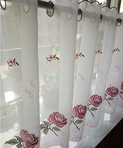 Embroidery Kitchen Curtain, Cafe Curtain, Dining Room