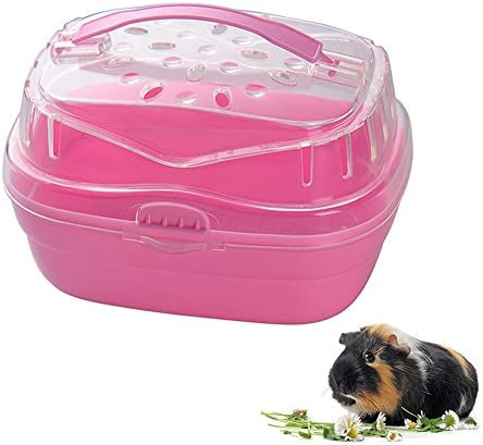 Yueunishi Hamster Cage Durable High-toughness PP Plastic Pink Dwarf Hamster Rabbit Small Animal Acrylic Hamster Cage Home / Yueunishi Hamster Cage Durable High-toughness PP Plastic Pink Dwarf Hamster Rabbit Small Animal Acrylic Ham...