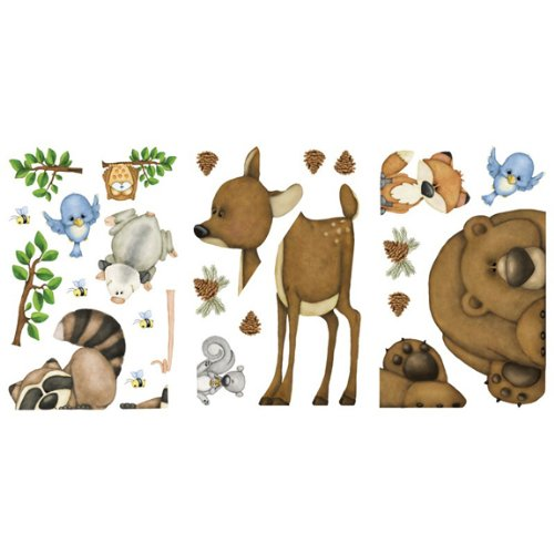 In The Woods Wildlife Animal Stickers Wall Decals Children Bedroom Decor by Border