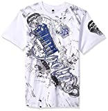 #4: Southpole Men's Short Sleeve HD, Foil, Flock Print All Over Graphic Tee