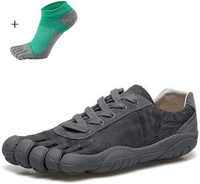 YANMUZI Zapatos Descalzos Unisex Punta Ancha Minimalista Trail Running Zapatos Descalzos Deportes Al Aire Libre Zapatos De Cinco Dedos Zapatos Descalzos con Calcetines