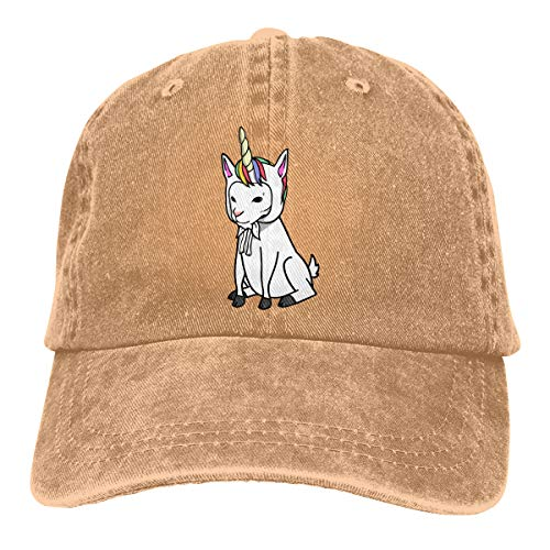 Men Women Washed Yarn-Dyed Denim Baseball Cap Unicorn Goat Golf Hats