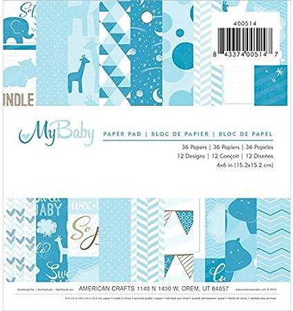 "6/""x6/"" Scrapbooking Papier Cartonné-Bébé garçon Vente 12 Designs X 2 Feuilles"