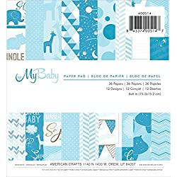 36-Sheet Blue Cardstock