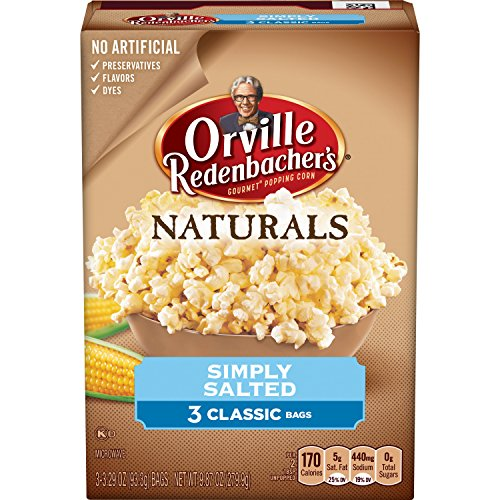 Orville Kettle Redenbacher Korn (Orville Redenbacher's Naturals Simply Salted Popcorn,9.87 oz, 36 Count (Pack of 12))