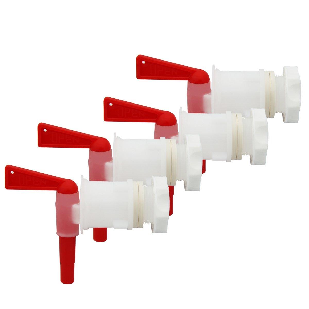 PERA 4 PACK Plastic Bottling Bucket keg Spigot tap faucet for Homebrew Wine Making Beer