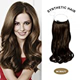 COCO Secret Extensions Synthetic Hair Extensions Curly Wavy 20 Inches (Medium Brown) offers