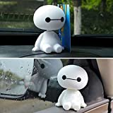 DeemoShop Cartoon Plastic Baymax Robot Shaking Head Figure Car Ornaments Auto Interior Decorations Big Hero Doll Toys Ornament Accessories
