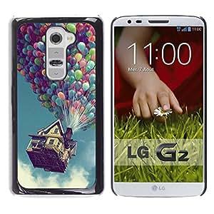 Hasta Globo Casa - Metal de aluminio y de plástico duro Caja del teléfono - Negro - LG G2