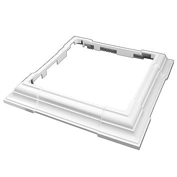 4 piezas ajustable Post falda (Anillo embellecedor), color blanco: Amazon.es: Bricolaje y herramientas