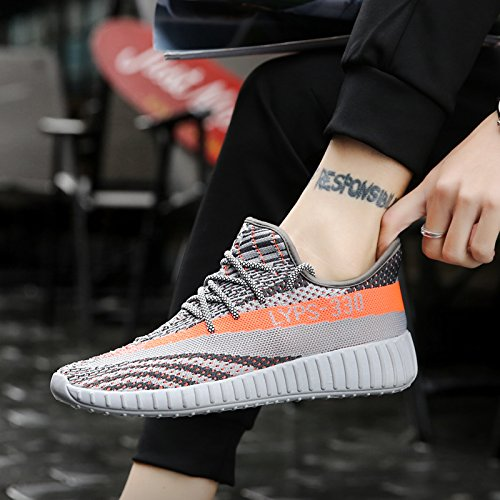 CONKAFOE Unisex Fly Weaving Running Shoes for Mens Womens Shark Sneakers Lightweight Knit Mesh Walking Chunky Shoes