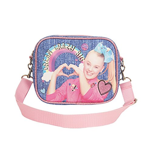 Nickelodeon JoJo Siwa Denim Shoulder Handbag for Girls with Pink Strap