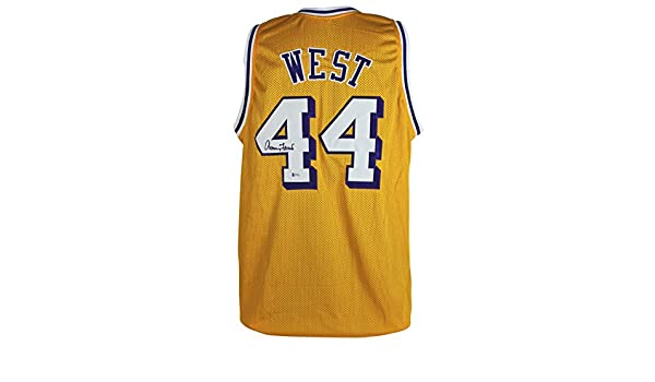 30fb38fd8 Lakers Jerry West Authentic Signed Yellow Mesh Jersey Autographed BAS  Witnessed at Amazon s Sports Collectibles Store