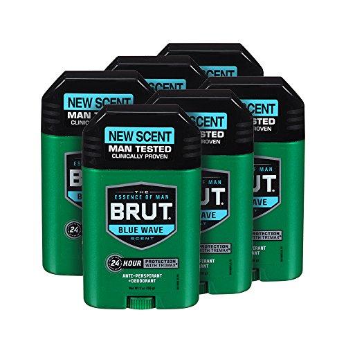 Brut Anti-Perspirant Plus Deodorant, Blue Wave, 2 oz (Pack of 6)