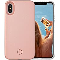 iPhone X Case, Wellerly LED Illuminated Selfie Light Cell...