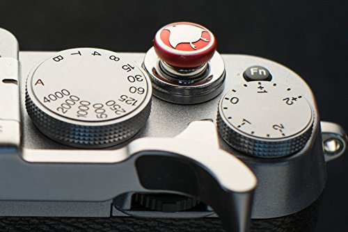 Anodized Red Bird Custom Soft Release Button - fits any standard threaed release - Fujifilm X-T2, X-Pro2, X-E2s/X-E2, X-T10, X100T/X100s/X100 by LENSMATE (Shutter Button)