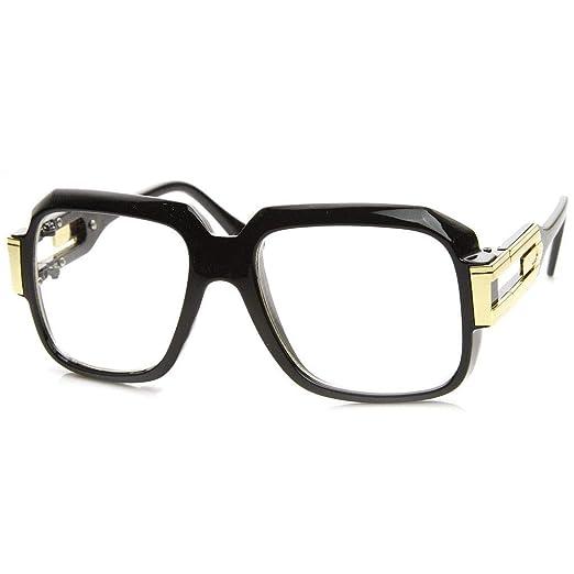 af60ac6eb9e5 Image Unavailable. Image not available for. Color  MLC Eyewear Oversized  Rectangular Hip Hop Nerdy Black ...