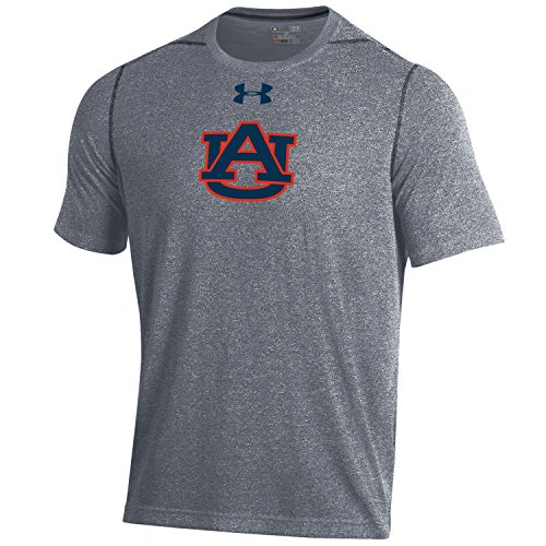 Under Armour NCAA Auburn Tigers Men's Short sleeve Threadborne Tee, Large, Rhino Grey Auburn Under Armour