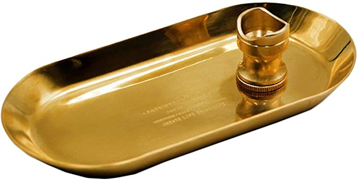 New Yellow  Stainless Steel 1 Cigar Cigar Ashtray