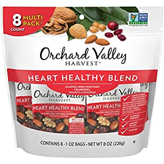 ORCHARD VALLEY HARVEST Heart Healthy Blend, 1 oz (Pack of 8), Non-GMO, No Artificial Ingredients