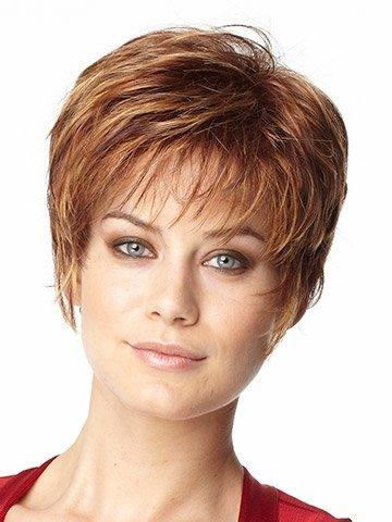 Sintético Corto Recto moda capas Bob peluca wigs-for mujeres + un peluca calva de