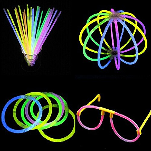 Glow Stick Costume Amazon (OliaDesign Mixed Colored Glow Sticks Bracelets (Tube of 100), 8