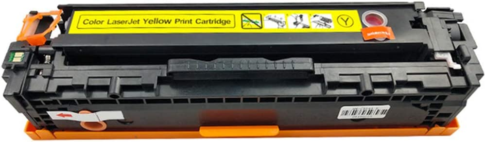 HBOY CF540A CF541A CF542A CF543A Toner Cartridge 4 Pack Easy to Install with chip-Four-colorcombination Compatible for HP Color Laserjet Pro M254nw M254dw M280nw M281fdn M281fdw Laser Printer