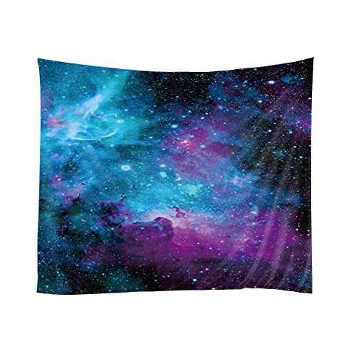 Xinhuaya Space Decor Tapestry, Galaxy Stars in Space Celestial Astronomic Planets in the Universe Milky Way Print, Wall Hanging for Bedroom Living Room Dorm,, 51 W x 60 (Current Tropical Rug)