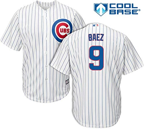 Jersey Replica T-shirt Player (Javier Baez Chicago Cubs Kids Cool Base White Replica Jersey Small 4)