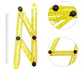 Angle Measuring Template Tool By AMC Tools Precision Multi Angle Ruler, Accurate Angling Finder & Protractor - For Carpenters, Architects, Handymen, Craftsmen & Engineers, Marking Pencil Included FREE
