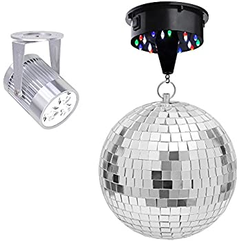 Amazon Com Club Size 16 Quot Mirror Disco Ball Musical