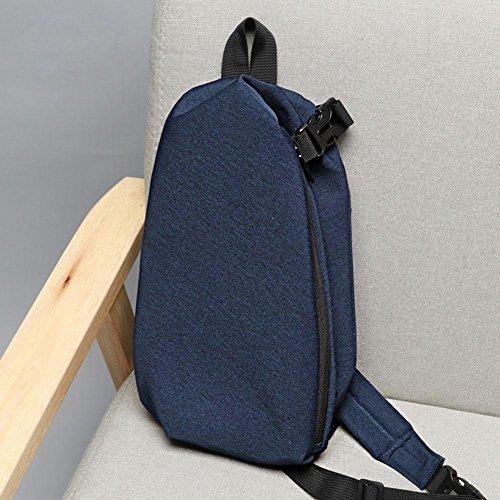Fanny Shoulder Canvas Handbags Packs Zipper Teen Chest Men Blue Casual Widewing Crossbody zv7c1RW