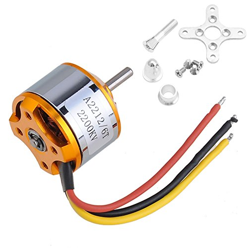 Kocome A2212 Useful Brushless 2200Kv Outrunner Motor For Aircraft Quadcopter Helicopter ()