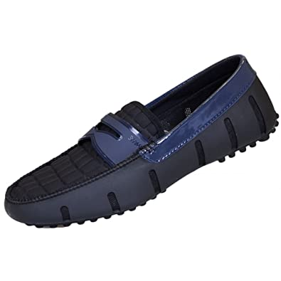 fd59b81d1f7 Amazon.com  SWIMS Penny Alligator Embossed Black Shine Loafer 11  Shoes