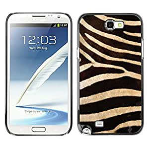 TECHCASE**Cubierta de la caja de protección la piel dura para el ** Samsung Galaxy Note 2 N7100 ** Zebra Pattern Wallpaper Textile Design