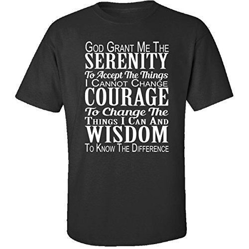 Christian Christmas Gifts Serenity Prayer Ttb1 - Adult Shirt L (Serenity Prayer T-shirt)