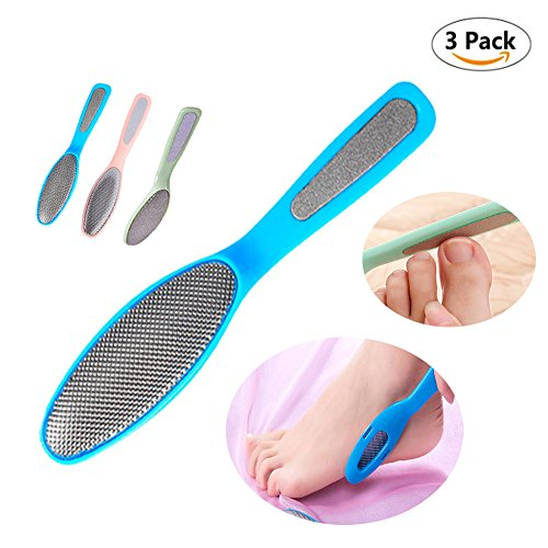EvaGO Foot File Foot Pedicure Rasp for Removing Hard Skin (3 pieces, Green, Blue & ()