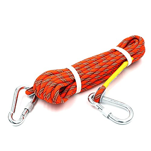 HandAcc Outdoor Climbing Rope 30M (98ft) Rock Climbing Rope, Diameter 10mm, Escape Rope Climbing Equipment Fire Rescue Parachute Rope ()