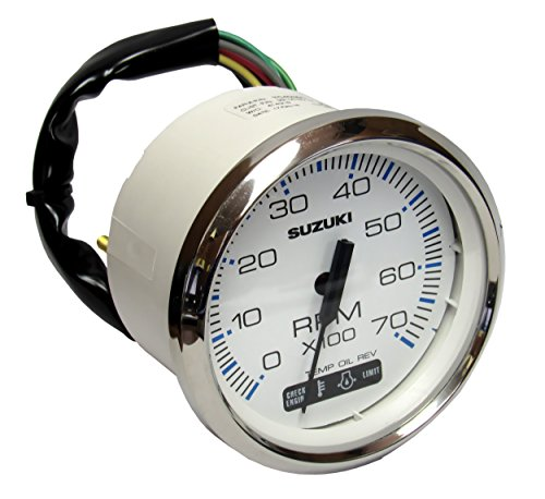 chometer with 4-Stroke Monitor Functions, White 99105-80101 (Stroke Tachometer)