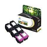 Catch Supplies 6 Pack 65XL N9K04AN N9K03AN Replacement High Yield Ink Cartridge Compatible with HP Deskjet 3720 3721 3730 3732 3752 3755 3758 Printers |4 Black, 2 Color|