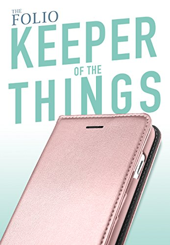 Silk iPhone 7 Plus/8 Plus Wallet Case - FOLIO WALLET Synthetic Leather Portfolio Flip Card Cover with Kickstand -Keeper of the Things - Rose Gold by Silk (Image #1)