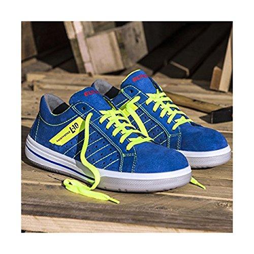 Elten Zapatillas S1P seguridad Breezer blue Low ESD azul - azul