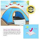 HEPHEAS Water Resistant Automatic Pop up Tent,3-4 Person,2 Door,3 Season for Beach Hiking and Camping.